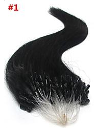 "100pc/lot 18"" Peruvian Hair Extension Micro Ring Human Hair Extension 0.5g/strand Straight Hair Extension"