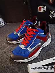 Scarpe Donna - Sneakers alla moda - Casual / Sportivo - Zeppe / Comoda - Heel Translucent - Di pelle - Nero / Blu