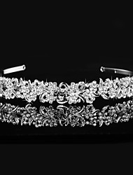 Vintage Charming Design Wedding Bride Handmake Headband Necklace Cown Pearls Hair Accessior Flower Silver Luxurious