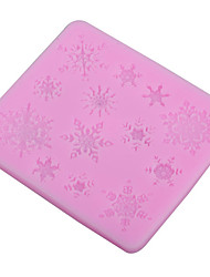 Snowflake Stylist Silicone Fondant Cake Mold Soap Chocolate Mould Clay Mould DIY