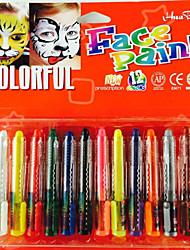 12pcs temporária corpo tatuagem pintar canetas composição de Halloween