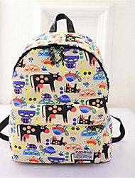 Women Canvas Baguette Backpack - Multi-color