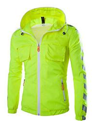 Design Men's Hoodie Coats & Jackets , Cotton Blend Long Sleeve Casual Pocket Winter