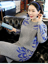 Women's Long Sleeved Sweater Dress Suit Bag Hip Pullover