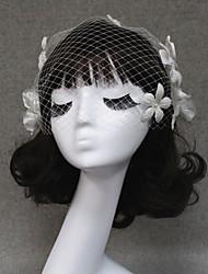 Wedding Veil One-tier Blusher Veils/Veils for Short Hair/Birdcage Veils Cut Edge
