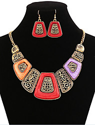 MPL Europe geometric Necklace Earrings Set
