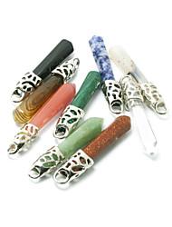 beadia 1pc nova prata jade pedra moda 10x60mm banhado pingentes de jóias DIY para o colar de mulheres