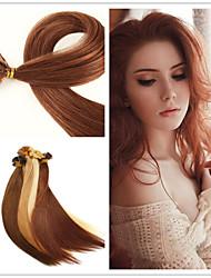 "18""-28"" 50g/lot  1g/strand Indian Virgin Hair Fusion Hair Extension Flat Tip Hair Extension"