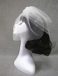 Wedding Rhinestones Veil Three-tier Blusher Veils/Veils for Short Hair Cut Edge
