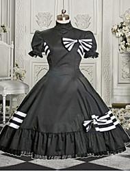 doce senhora sem mangas na altura do joelho de algodão preto e vermelho vestido lolita doce