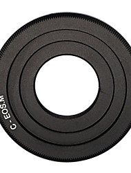 Black C-Mount Cine Movie lens to Canon EOS M M2 M3 Camera Lens Adapter Ring CCTV lens C-EOS M
