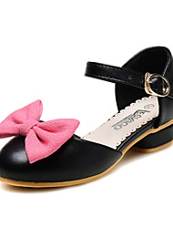 Girls' Shoes Wedding / Dress / Casual Comfort / Round Toe / Closed Toe Leatherette Flats Black