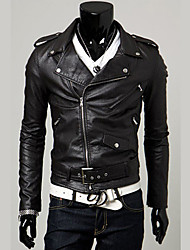 Male Leather Clothing Slim PU Leather Jacket Motorcycle Clothing Casual Men's Autumn  Design Short Outerwear Male