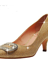 Women's Wedding Shoes Pointed Toe/Closed Toe Heels Wedding/Party & Evening/Dress Red/Gold