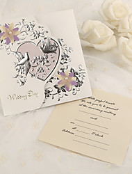 Personalized Tri-Fold Wedding Invitations Invitation Cards - 50 Piece/Set