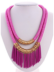 MPL European and American retro crystal multilayer fringe short necklace
