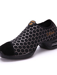 Women's Dance Shoes Modern/Dance sneakers/Jazz/Gym Suede Leather Air Cushion Shoes Black/Yellow/Bule Customizable