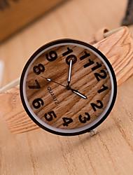 Women's European Fashion Vintage Imitation Wood Grain Wrist watch Cool Watches Unique Watches Strap Watch