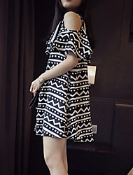 Round Neck Maternity Dress , Cotton Mini Short Sleeve