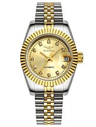 GUANQIN® High-end Luxury Fashion Automatic Self-wind Diamond Watch Steel Waterproof Calendar 27mm Women Wristwatch Cool Watcheses With Watch Box