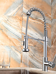 Warpeu Deck Mounted Single Handle One Hole with Chrome Kitchen faucet