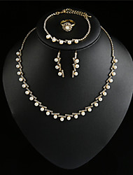 FX Women Vintage / Cute / Party  / Alloy / Rhinestone / Gemstone & Crystal / Imitation PearlNecklace /