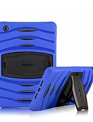 heavy duty hybrid à prova de choque armadura magro tampa da caixa do pc + caixa do silicone para iPad mini 3/2/1 (cores sortidas)