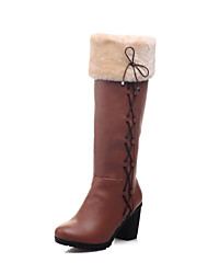 Women's Chunky Heel Round Toe / Closed Toe Boots