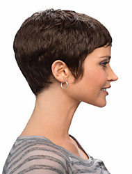 Women's Fashionable Short Black Wigs with Full Bang
