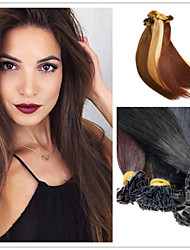 "18""-28""Brazilian Human Hair 1g/s 100g/pack Pre-Bonded Hair Extension Flat Tip Hair Extension"