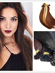 """18 """"28"""" cabello humano brasileño 1g / s 100g / pack extensión del pelo de punta plana pre-consolidado la extensión del pelo"""