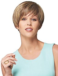 High Quality Lady Woman Natural Straight Hair Synthetic Wigs