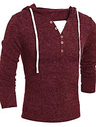 Men's Long Sleeve Polo , Cotton Casual / Sport Pure