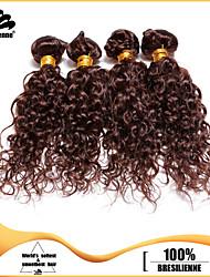 4pcs Brazilian Deep Curl Hair Bundles Weaves Chocolate Brown 100% Unprocessed Brazilian Human Hair Weft