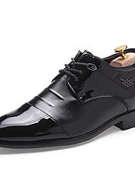Masculino sapatos Couro Primavera Verão Outono Inverno Curta/Ankle Oxfords Caminhada Para Casual Festas & Noite Preto