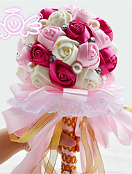 Bouquets ( Rose / Rouge / Pourpre , Strass / Polyester ) Roses