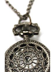 reloj de bolsillo de tela de araña de cuarzo Mujer