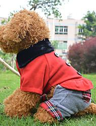 Mäntel / Kleider für Hunde Rot Frühling/Herbst S / M / L / XL Baumwolle / Polar-Fleece