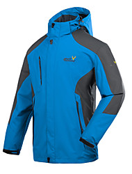 New Men Spring Autumn Hiking Camping Jacket Waterproof Windbreaker Detachable Cap Fishing Clothing 6XL
