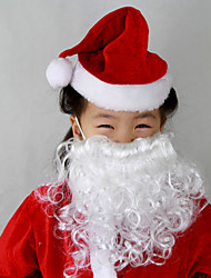 Fashion Memory Christmas Santa Claus Santa Suits Big White Beard For Kids 1 PC