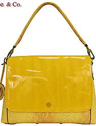 Kate & Co.® Women PVC Shoulder Bag Yellow / Red - TS-00144