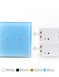 Two gang touch wireless remote switch   one  set