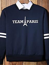 Men's Short Sleeve Hoodie & Sweatshirt , Cotton Print