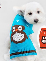 Dog / Cat Coat / Sweater Blue / Orange Winter Cartoon Wedding / Cosplay