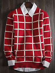 Men's Striped Pullover , Knitwear Long Sleeve