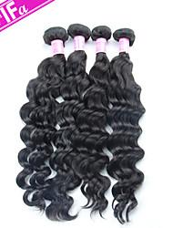 Brazilian Virgin Hair 4Pcs/Lot Unprocessed Human Hair Natural Wave Brazilian Hair Color 1B