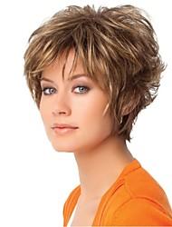 mulher senhora elegante curto perucas de cabelo sintético
