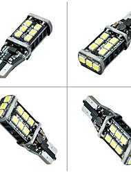 2pcs ding yao t10 2835 15smd luz de ré 400-600lm 6000k DC12V