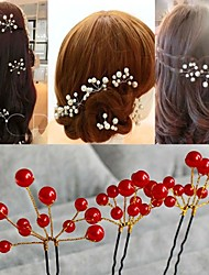 Korean  Go Hand Pearl U More Hair Barrette Wedding Bride Hair Accessories 6pcs