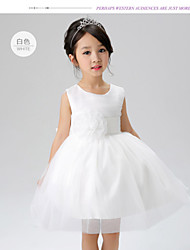 Flower Girl Kids Princess Bow Dress Toddler Wedding Party Pageant Tulle Dress